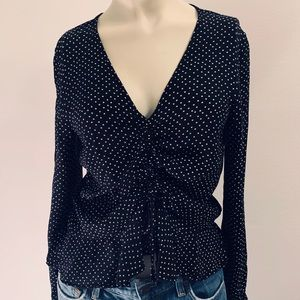 H&M Black and White Polkadot Top